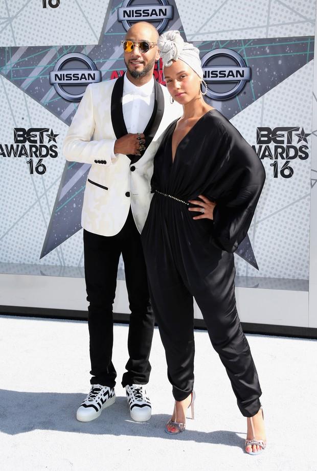 Swizz Beatz e Alicia Keys (Foto: Reprodução/Instagram)