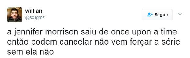 Fãs lamentam saída de atriz de Once Upon A Time (Foto: Reprodução)