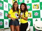 Sabrina Sato e famosos participam de evento em São Paulo