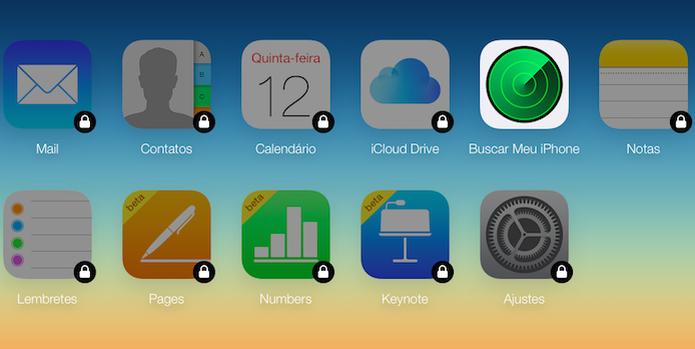 Acesse a sua conta do iCloud e abra a ferramenta de busca do iPhone (Foto: Reprodução/Helito Bijora)  (Foto: Acesse a sua conta do iCloud e abra a ferramenta de busca do iPhone (Foto: Reprodução/Helito Bijora) )