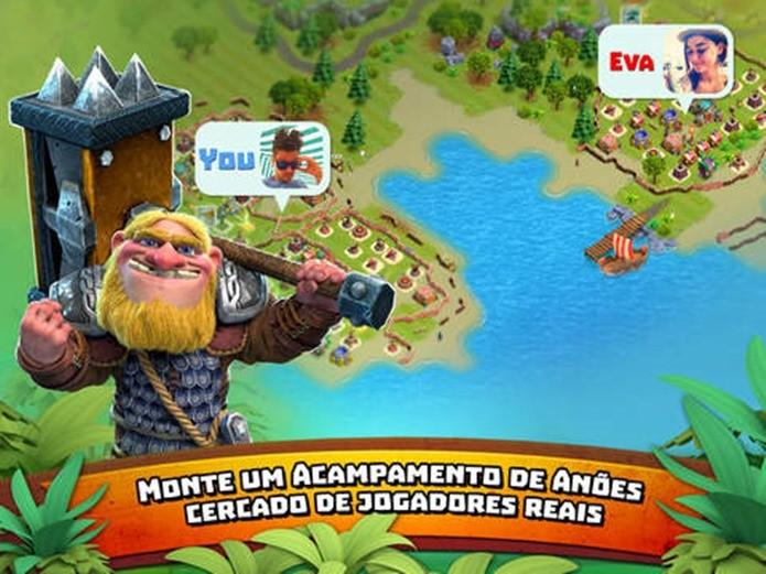 Game no estilo Clash of Clans, mas nele você divide a ilha com outros jogadores (Foto: Divulgação)