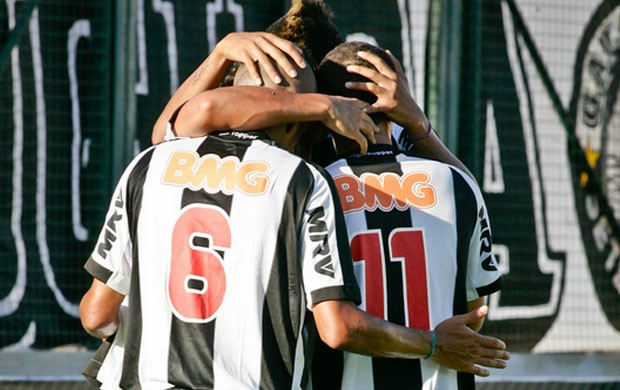 Jogadores do Atlético-MG comemoram gol contra o Democrata (Foto: Bruno Cantini  / Site Oficial do Atlético-MG)