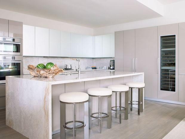 Gray Wall Kitchen Apartment