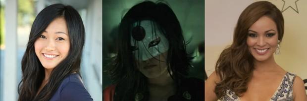 Karen Fukuhara e atriz como Katana / Carol Nakamura em evento (Foto: Divulgação.IMDB/ Globo.Renato Rocha Miranda)
