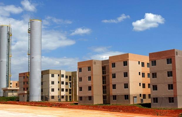 Construção erguida no Paranoá para atender beneficiários do programa Morar Bem (Foto: Dênio Simões/Agência Brasília)
