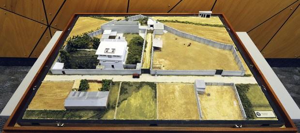 Modelo foi feito em escala 1:84 (Foto: AP/Agência Nacional de Inteligência Geoespacial)