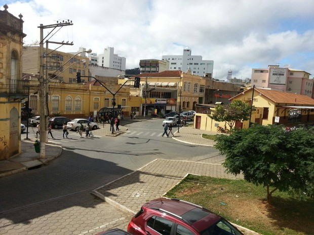 Ruas do Centro de Viçosa (Foto: Nathalie Guimarães/G1)