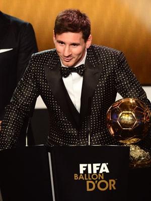 Messi bola de ouro (Foto: Olivier Morin/AFP)