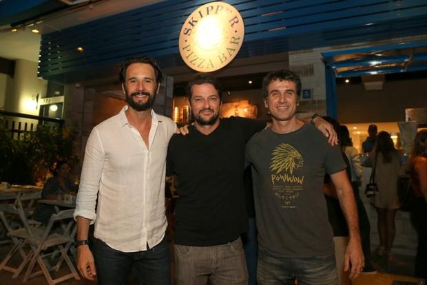 Marcelo Serrado, Rodrigo Santoro e Eriberto Leão (Foto: ANDRÉ FREITAS/ AGNEWS )