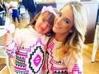 Par de jarros: Ticiane Pinheiro e Rafaella Justus usam roupas iguais