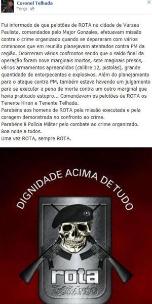 telhada facebook (Foto: Reprodução/Facebook)