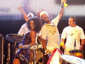 Ana Mametto dançou e cantou com Olodum no Pelourinho. (Foto: Divulgação/Edgar de Souza)