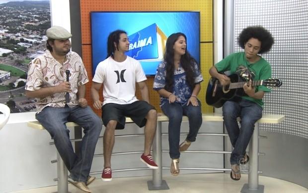 O grupo musical roraimense vai participar do Altas Horas Fest, em Santarém, no Pará (Foto: Roraima TV)
