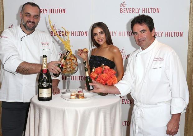 Alberico Nunizata, Olivia Culpo e Thomas Henzi  (Foto: Getty Images)