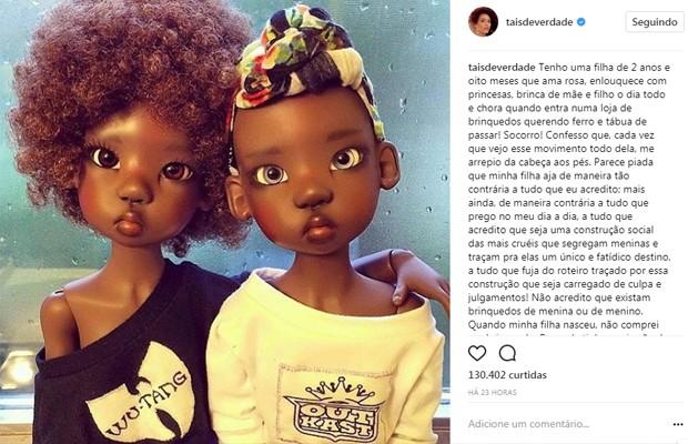 Publicação de Taís Araújo (Foto: Reprodução/Instagram)