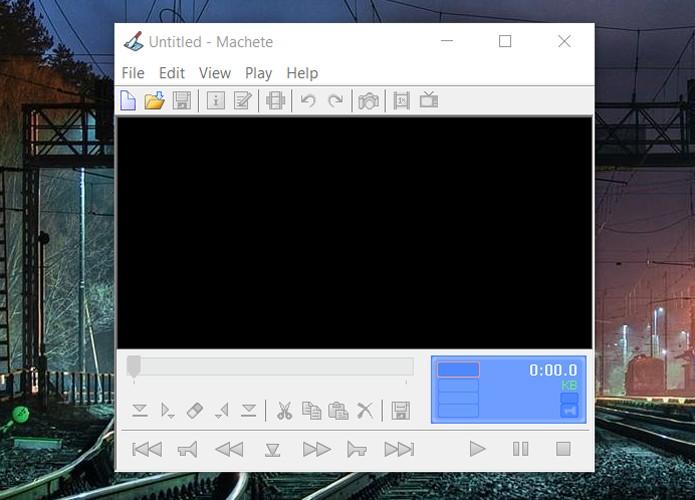 Machete serve basicamente para cortar vídeos. Versão paga oferece suporte a diversos formatos, enquanto que a versão grátis funciona apenas com WMV e AVI (Foto: Reprodução/Filipe Garrett)