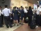 Aeroviários fazem mobilização em parada de 2h no terminal de Salvador