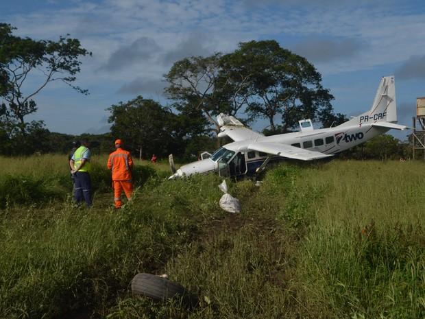avião, queda, macapá (Foto: Fabiana Figueiredo/G1)