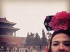 Luciana Gimenez mostra foto de viagem a China