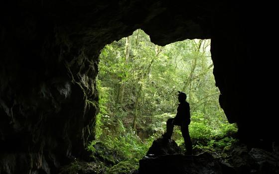 Caverna de Cercado, na Escarpa Devoniana (Foto: GUPE Divulgação)