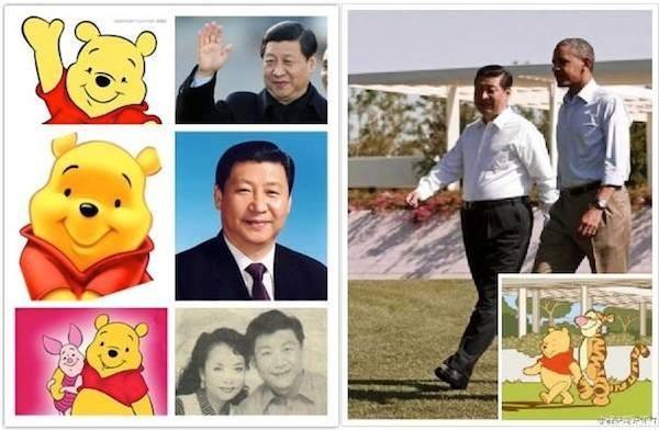 Outras comparações entre o presidente chinês Xi Jinping e o ursinho Pooh (Foto: Reprodução)