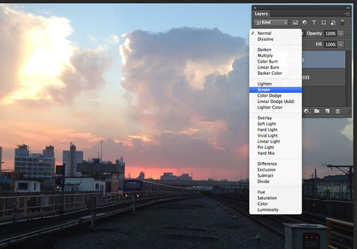 Crie uma nova Camada e mude seu modo de Mesclagem no Photoshop (Foto: Reprodução/André Sugai)