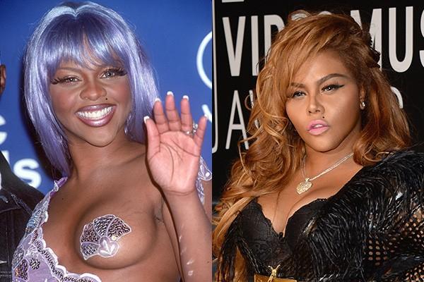 A rapper Lil' Kim mudou muito desde que apareceu no cenário musical nos anos 90. Surgiram muitas especulações sobre ela ter feito cirurgias plásticas, mas a artista nega as ter feito. (Foto: Getty Images)