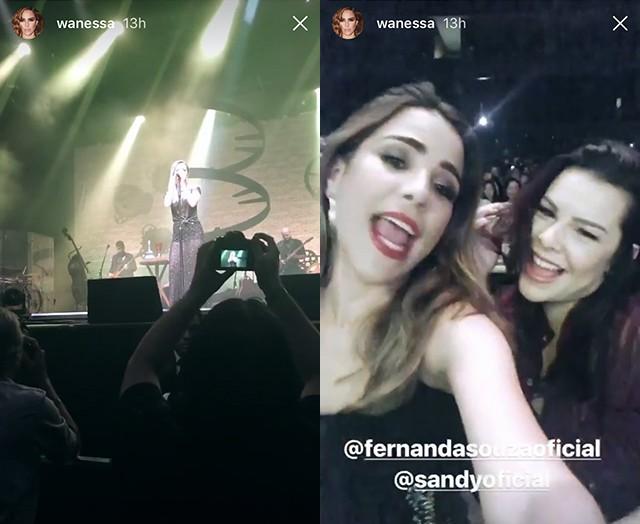 Wanessa Camargo e Fernanda Souza curtem show de Sandy (Foto: reprodução/instagram)