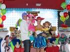Fernanda Pontes comemora o aniversário do filho com festa
