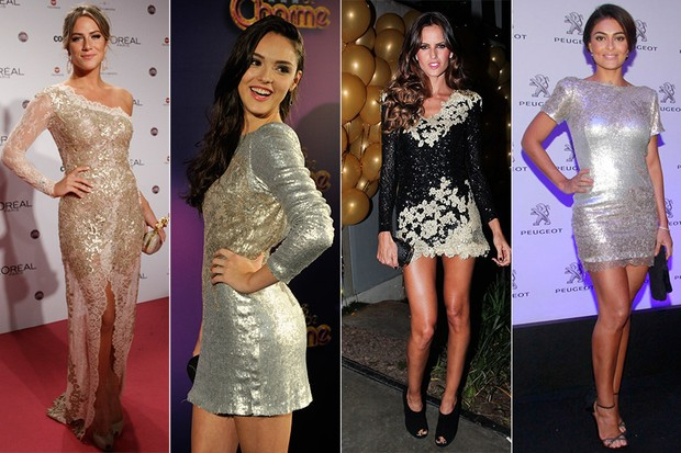 Vestidos de Lethicia Bronstein - Giovanna Ewbank, Isabelle Drummond, Izabel Goulart, Juliana Paes (Foto: Reprodução)