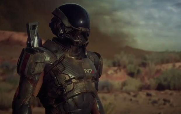 'Mass Effect Andromeda' leva o jogador para fora da Via Láctea, a uma galáxia onde os humanos são alienígenas (Foto: Reprodução/EA)