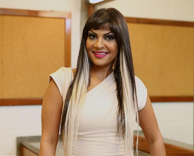 Andrea Negreiros é backing vocal do Lulu Santos há 6 anos (Foto: Isabella Pinheiro/TV Globo)