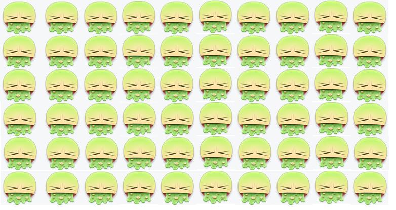 Emoji vomitando foi o escolhido pelos manifestantes (Foto: Reprodução)