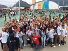 Estudantes tomam conta do Parque Olímpico no 1º dia de competições
