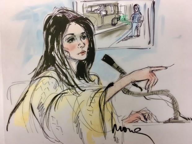 Kendall Jenner durante depoimento contra  Shavaughn McKenzie (Foto: Mona Edwards)