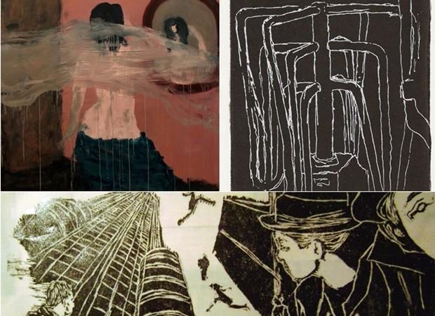 Exposição dos artistas Marco Magalhães, Carla Rosane e Pamela Reis, em Goiânia (Foto: Divulgação/MAG)
