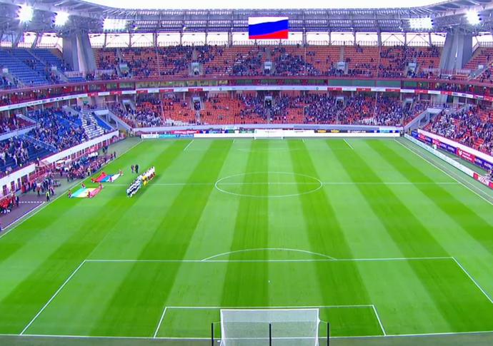 Estádio Lujniki, em Moscou (Foto: Reprodução SporTV)