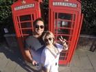 Carla Perez e Xanddy fazem turismo em Londres