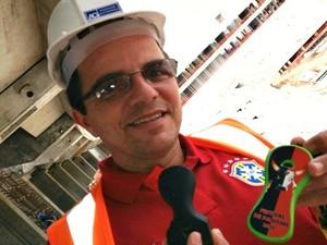 Criador do projeto visita a Arena da Amazônia (Foto: Meike Farias)