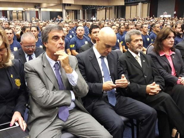 Ministro Alexandre de Moraes participou de formatura da PRF (Foto: Fábio Cardoso/RBS TV)