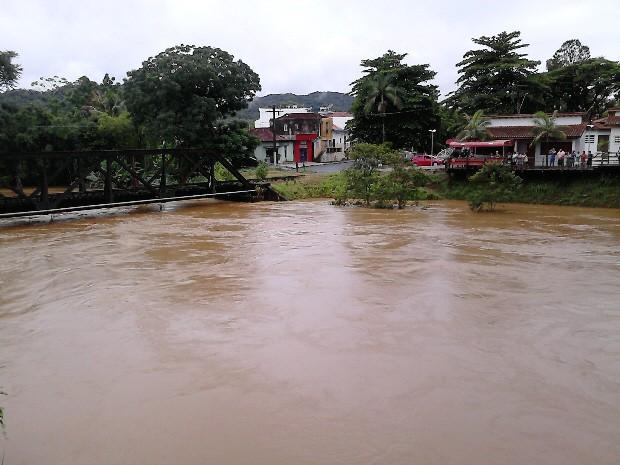 Chuvas têm gerado preocupação em Itariri, SP (Foto: VC no G1/ Thiago Pereira dos Santos )