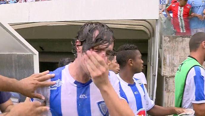 Zagueiro Navarro do Dom Bosco (Foto: Reprodução/TVCA)