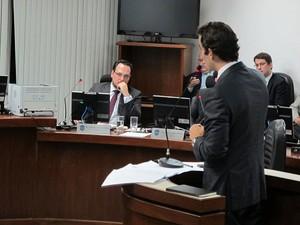 Michel Assef Filho advogado Flamengo STJD julgamento (Foto: Richard Souza)