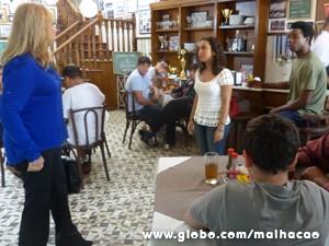 Elvira não admite que a Julia tenha amigos negros (Foto: Malhação / TV Globo)