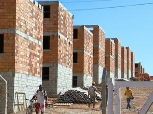 Residencial Minha Casa Minha Vida Barbacena (Foto: Reprodução/TV Integração)