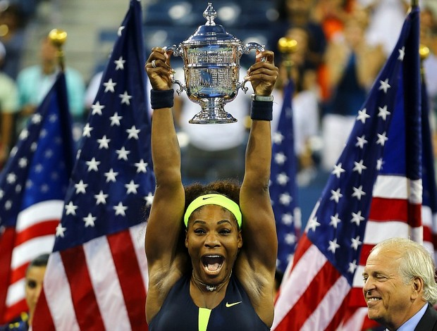 Serena Williams t&#234;nis US Open final trof&#233;u (Foto: Getty Images)