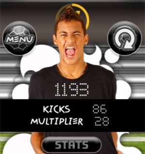 Tela do 'Neymar Game', jogo do atacante do Santos (Foto: Divulgação)