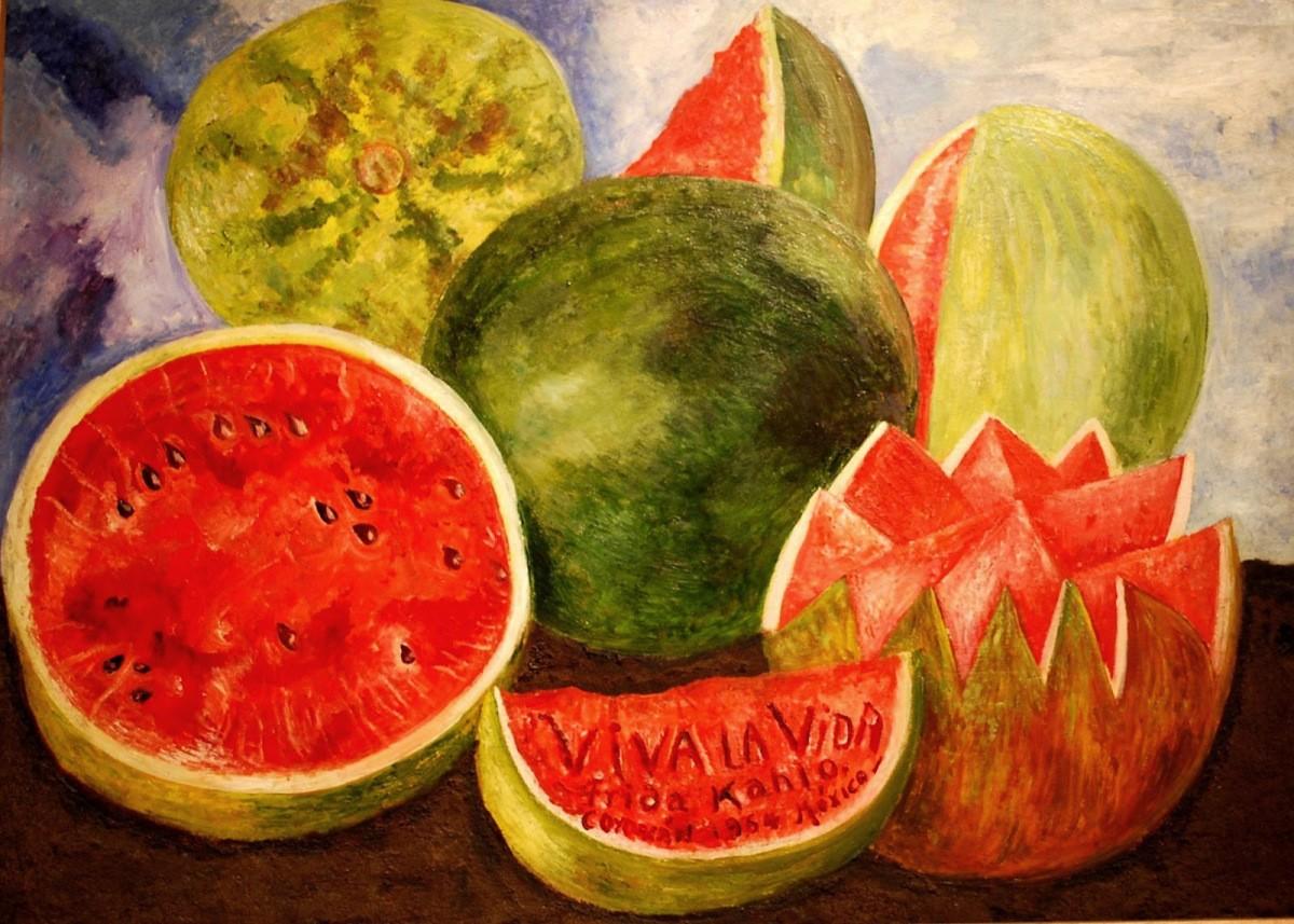 """Quadro 'Viva la vida"""", de Frida Kahlo, de 1954 (Foto: Reprodução)"""