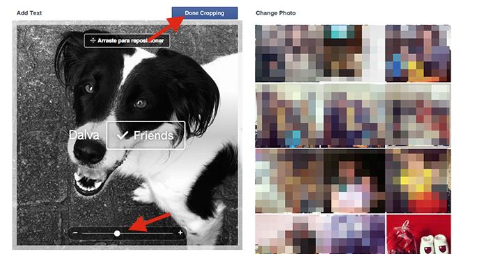 Ampliando uma foto do Facebook que terá a tag Friends inserida (Foto: Reprodução/Marvin Costa)