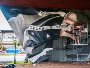 Bolacha precisou de uma semana para concluir o trabalho em homenagem a Joaquim Barbosa (Foto: Priscilla Fiedler Fotografia/ Divulgação)